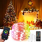 32.8ft LED Indoor String Lights, Fairy lights, Music Sync Color Changing Dreamcolor, Kit with, Rainbow WiFi Wireless…