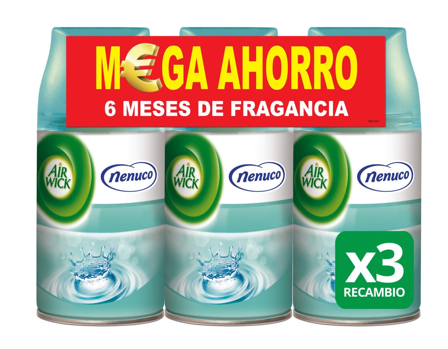 Air Wick Ambientador Freshmatic Recambio - Fragancia Nenuco - Paquete de 3 x 250 ml -