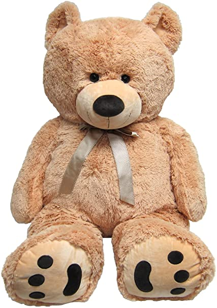 6ea575e167a Amazon.com  JOON Huge Teddy Bear - Tan  Toys   Games