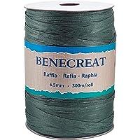 BENECREAT 300m/328 Yards 6.5mm Breedte Raffia Garen Raffia Papier Craft Lint Verpakking Twine voor Festival DIY…