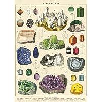 "Cavallini & Co. Mineralogie Chart Decorative Paper Sheet 20"" x 28"""