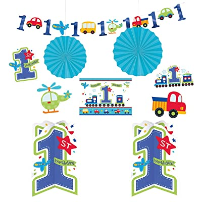 """All Aboard Boy\"" Room Decorating Kit, Birthday: Toys & Games"