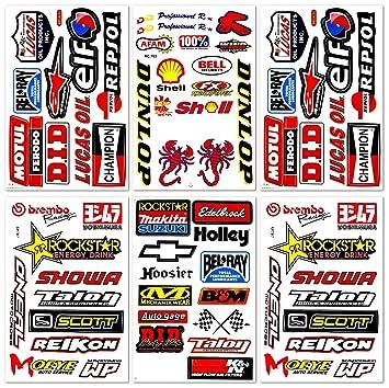 Dirt Bike Pro Motocross Supercross MotoGP - Pegatinas de vinilo para casco ATV, 6 unidades