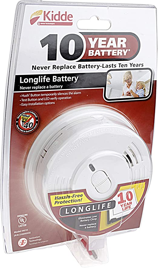 6 Pack Of Kidde I9010 10 Year Sealed Lithium Battery Operated