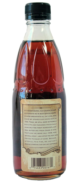 amazon com cracker barrel pure maple syrup grocery u0026 gourmet food