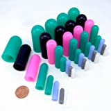 """40 Piece High Temp Silicone Rubber Protective End Cap Kit - 3/32"""" to 3/4"""" for Powder Coating Custom Painting Anodizing"""