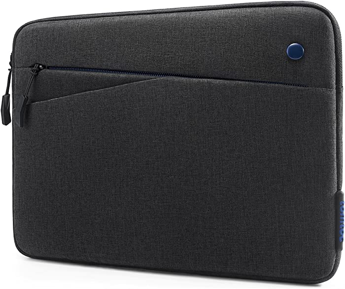 tomtoc Tablet Sleeve for 12.9 Inch New iPad Pro 2018-2020 with Apple Magic Keyboard and Smart Keyboard Folio or Logitech Slim Folio Pro Case, Front Pocket for Tablet Accessories
