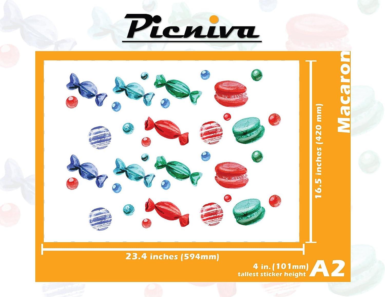 Picniva赤ちゃん部屋飾りステッカークリアビニール壁アート飾りデカールステッカー A2(4\ A2(4