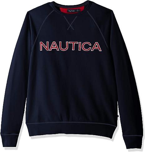 TALLA S. Nautica Fleece Graphic Crew Sudadera para Hombre