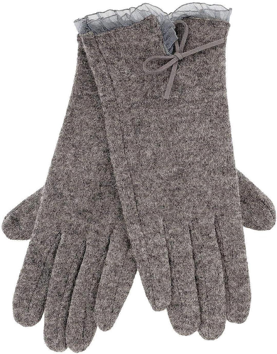 AVICE Grey Wool Women Gloves