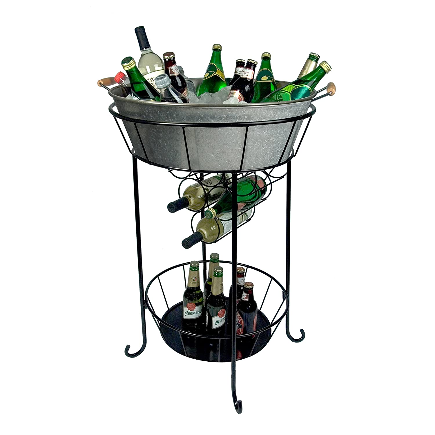 Amazon.com: Artland Oasis Party Tub With Stand, Galvanized, Metal: Home  D?cor Products: Kitchen U0026 Dining