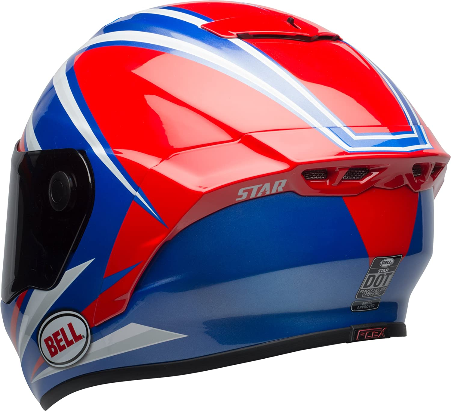 Gloss Red//Blue Torsion, XX-Large Bell Star MIPS Equipped Street Motorcycle Helmet