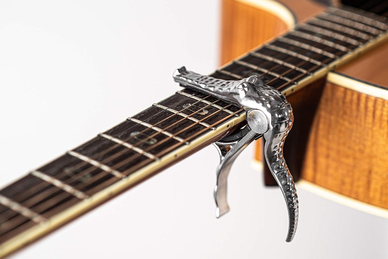 SILENCEBAN - Cejilla de gatillo de cocodrilo para guitarra ...