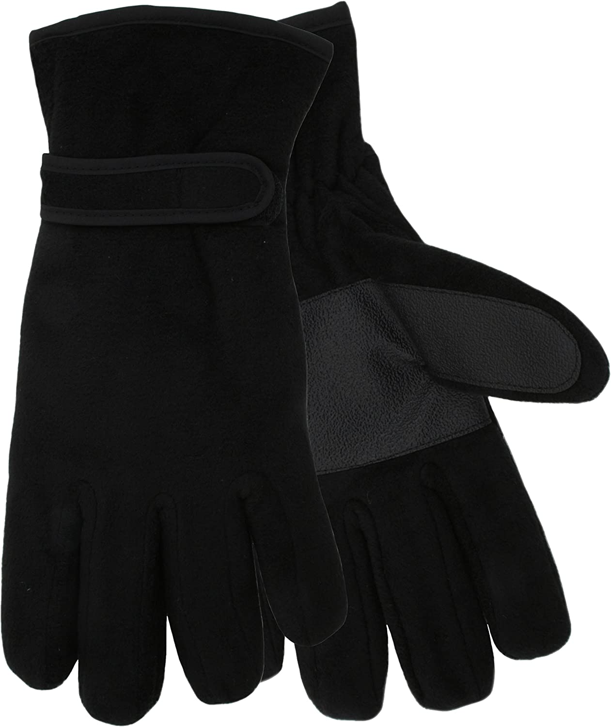 MENS 3M BLACK THINSULATE THERMAL LINED WINTER GLOVES MEDIUM//LARGE