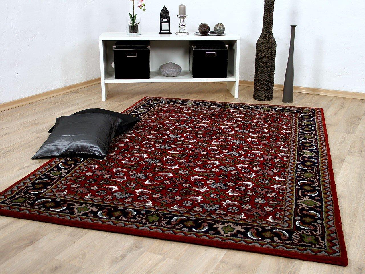 Natur Orientteppich Royal Rot Blau Herati in 8 Größen