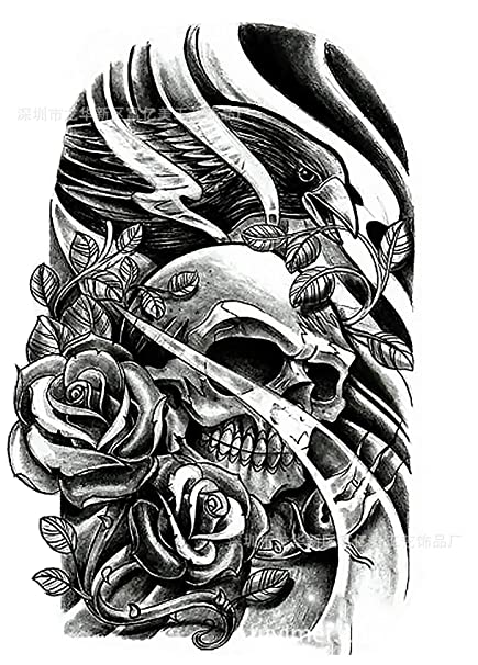 Skull eagle impermeable hombres y mujeres sudor tatuaje tatuajes ...