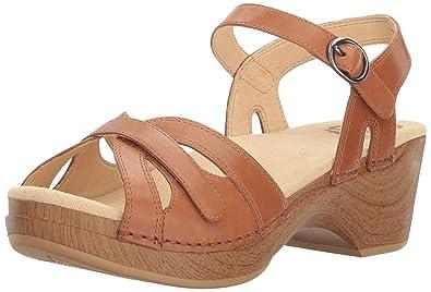 Dansko Women's Season Flat Sandal, Camel, ...