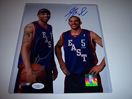 b343a468bb22 Jason Kidd Autographed Picture - kenyon Martin allstars coa 8x10 - JSA  Certified - Autographed NBA