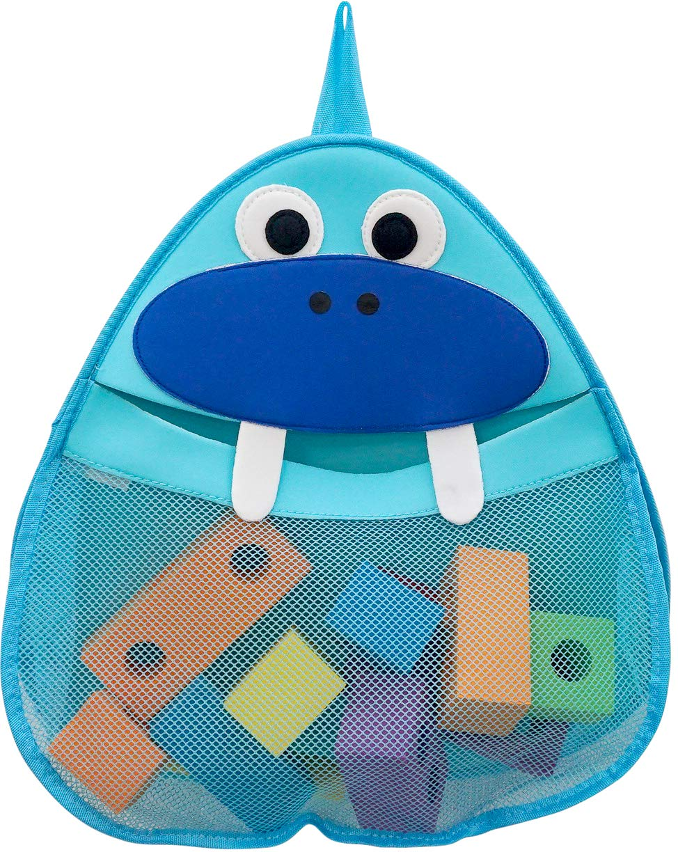 Wally The Walrus - Bath Toy Organizer - Holder Storage mesh - Quick Drying Materials (Wally The Walrus)