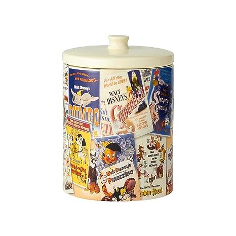 Disney Cookie Jars >> Amazon Com Enesco 6001023 Classic Disney Film Posters Ceramic 9 25