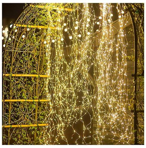 Cueyu - Lámpara LED de árbol de Navidad, 2 m, 200 LED ...