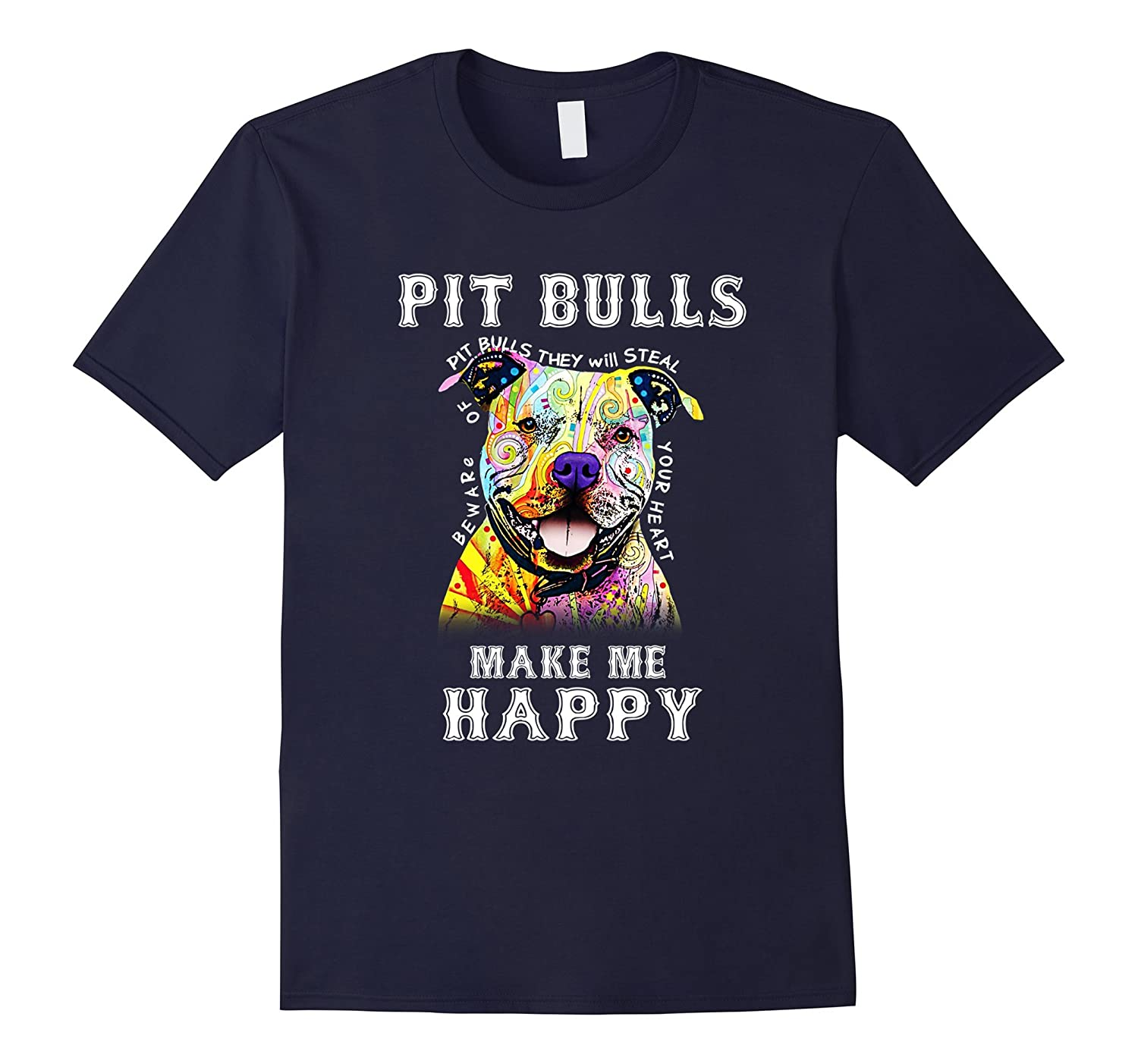 Beware Of Pitbull They Will Steal Your Heart T-shirt-PL