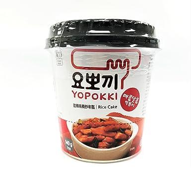 Yopokki Pastel De Arroz Coreano Con Salsa Picante (Picante Topokki) 140G