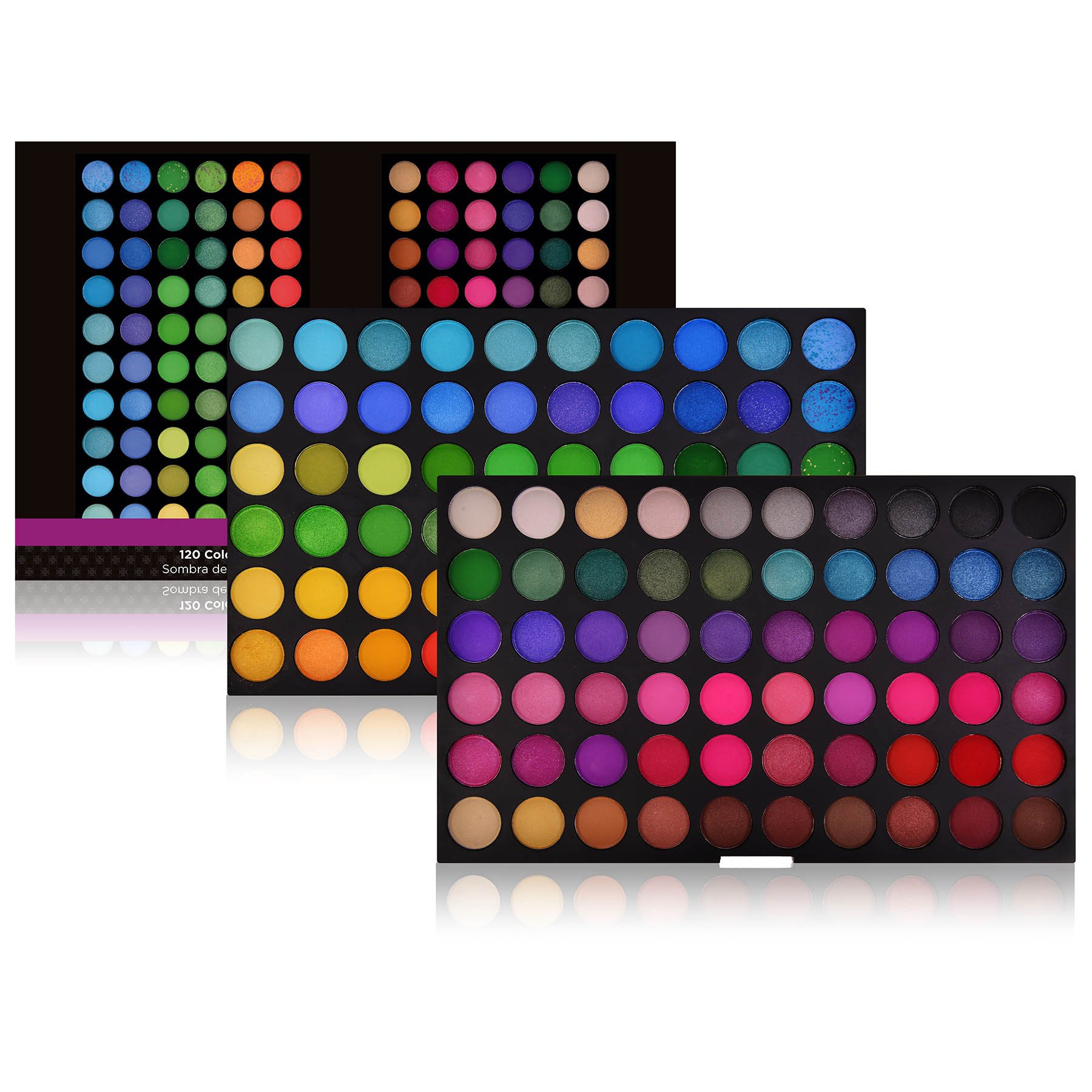 SHANY Cosmetics SHANY Eyeshadow Palette, Bold and Bright Collection, 120 Vivid Color, 13 Ounce
