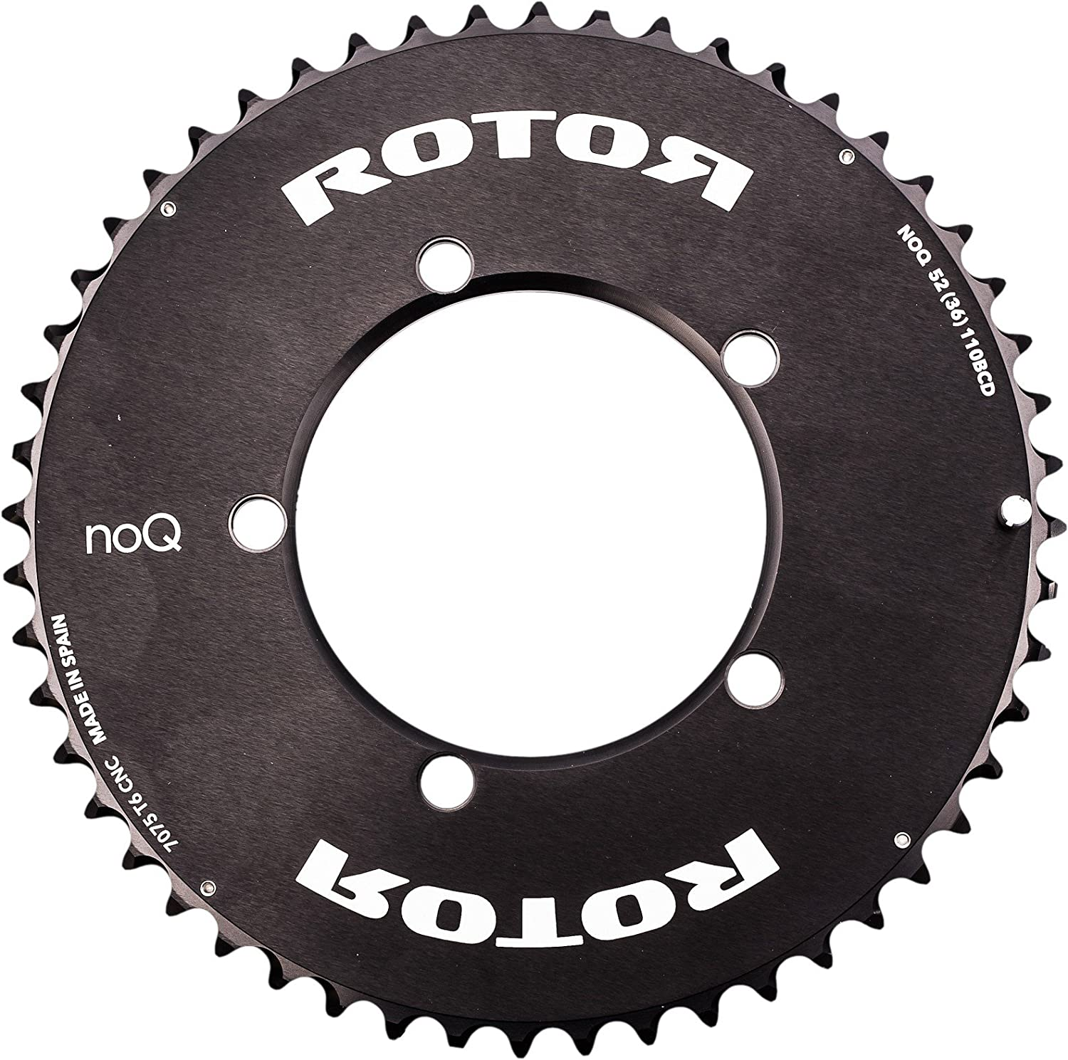 ROTOR(ローター) NOQ AERO OUTER Road Chainring Compact 110PCD [Size: 53-50T] [並行輸入品] B06Y3M7X22 53T-Outer