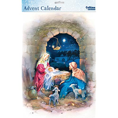 Advent Calendar (WDM9795) Caltime - Nativity Archway - Glitter Varnished by Caltime