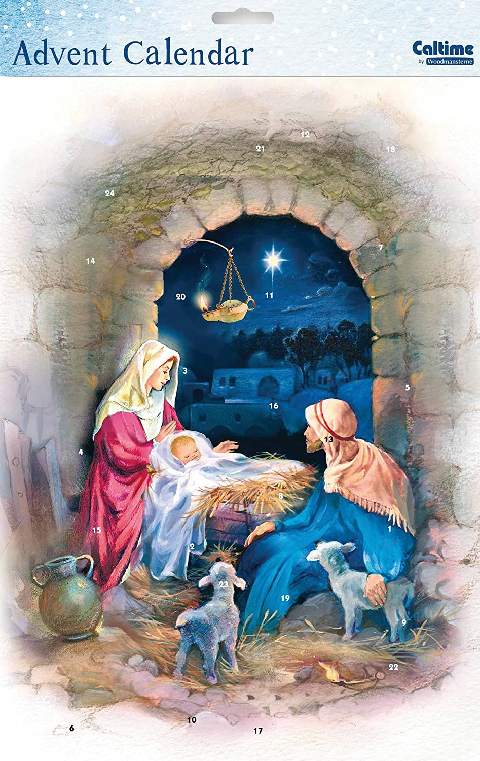 Advent Calendar (WDM9795) Caltime - Nativity Archway - Glitter Varnished by Caltime Woodmansterne