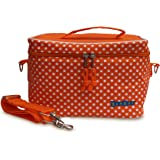 Yumbox Large Insulated Lunchbox Cooler Bag (Tango Orange with White Polka Dots)
