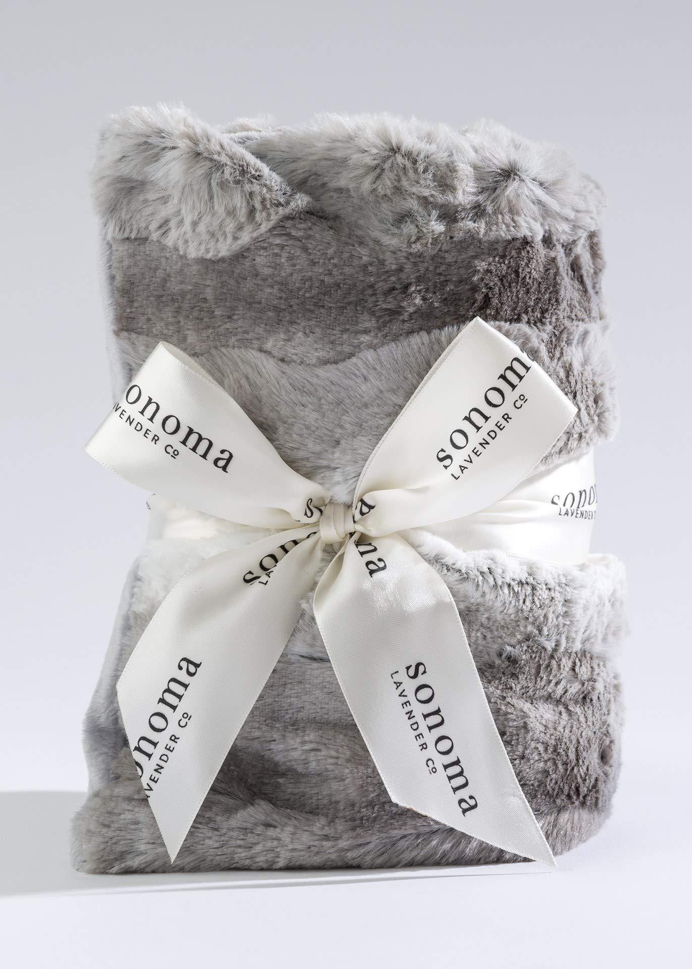 Lavender SPA Heat WRAP in Angora Faux Fur by Sonoma Lavender