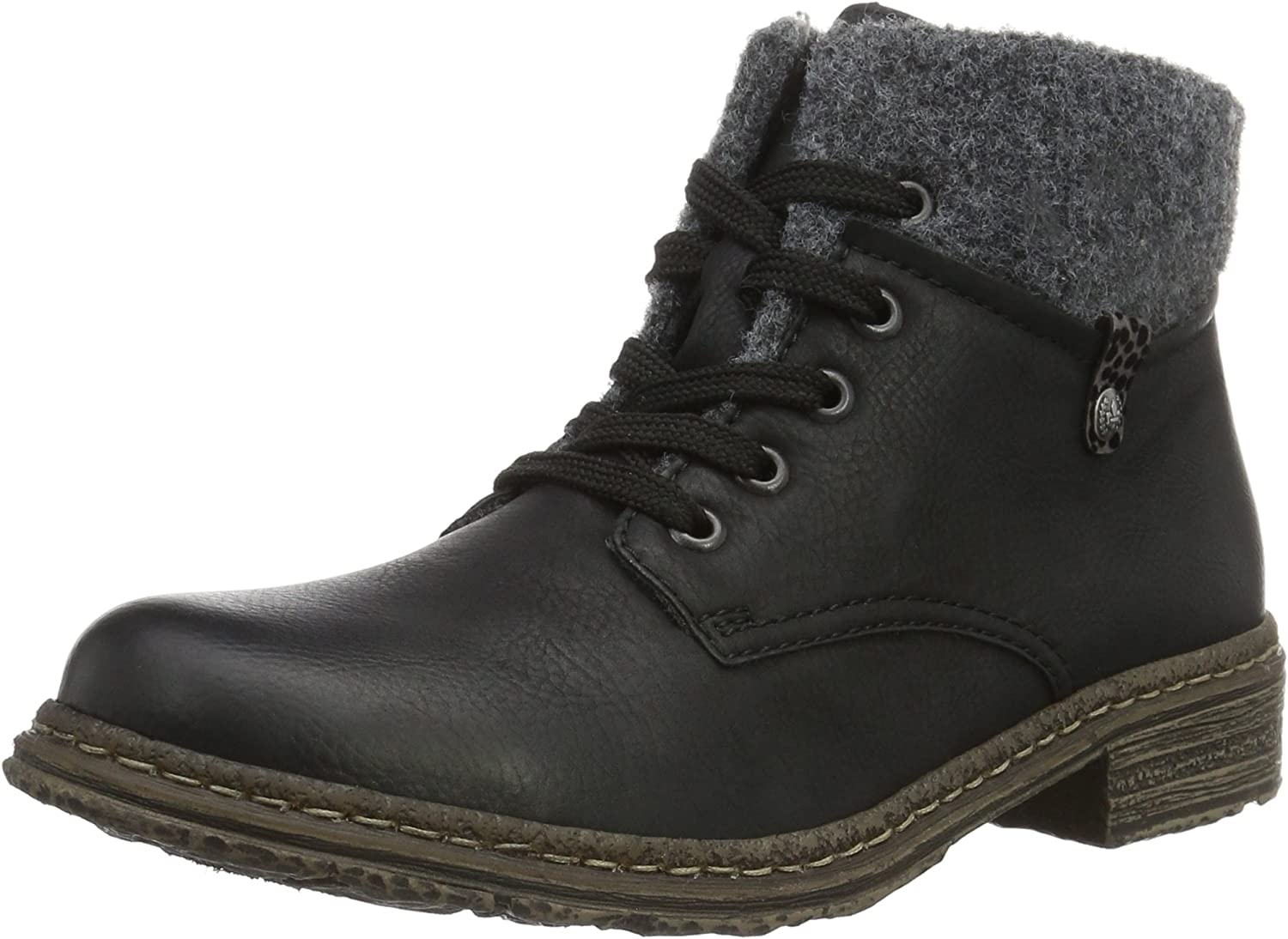 Rieker women lace up boot black 74234 00