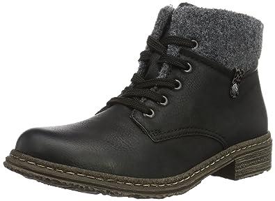 2ef45d74daed Rieker Damen 74234 Kurzschaft Stiefel, (schwarz Granit Grau   00),