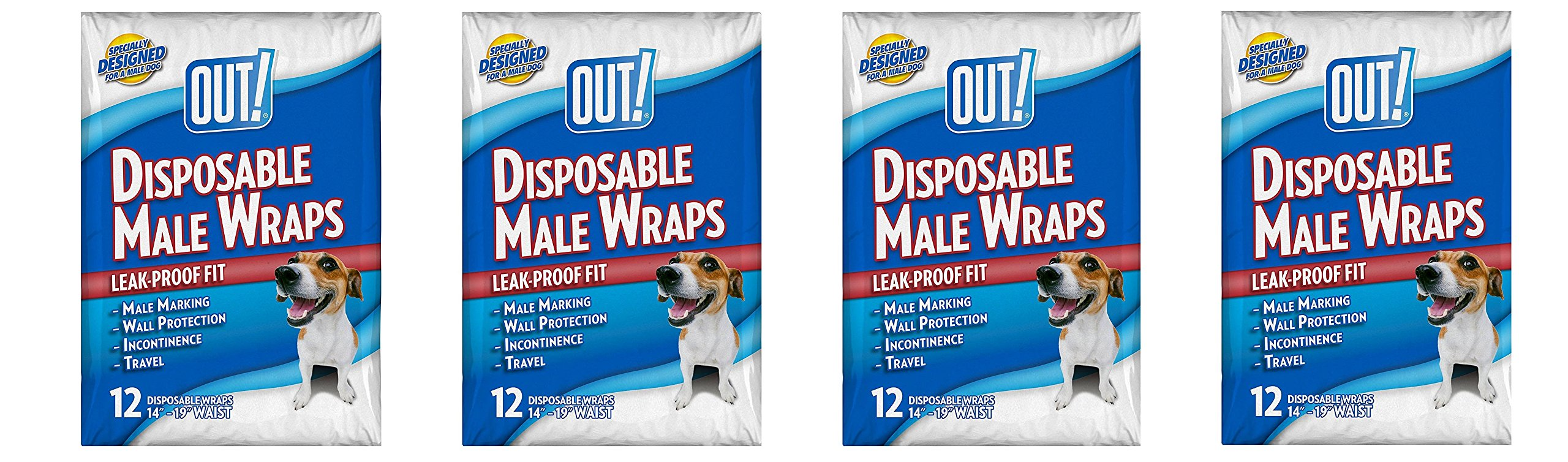 OUT! Disposable Male cKsRpf Wraps, 12 Count (Pack of 4)