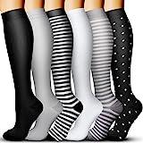 Compression Socks for Women & Men 15-20 mmHg, Best Medical, Nursing, for Running, Athletic, Varicose Veins, Travel