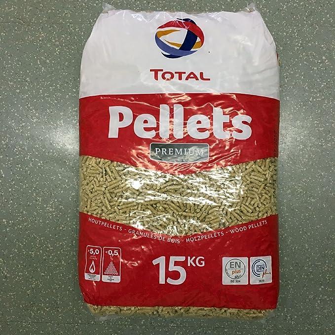 12 Sacos Total Premium Madera Pellets de 15 kg Pellets de madera: Amazon.es: Bricolaje y herramientas