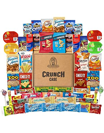 Mega Snacks (50 Count) Variety Care Package Gift Box - College Students, Military