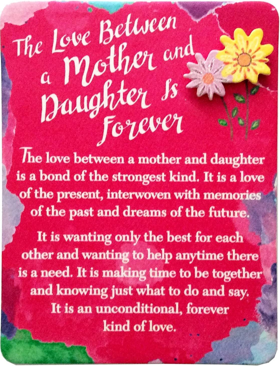 "Blue Mountain Arts Miniature Easel Print with Magnet ""The Love Between a Mother and Daughter Is Forever"" 4.9 x 3.6 in., Christmas, Birthday, Graduation, Mother's Day, or ""I Love You"" Gift"