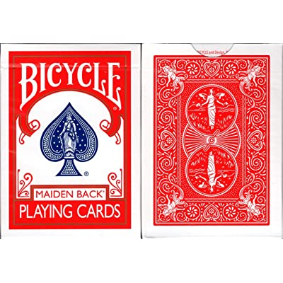 Marked Maiden Back Bicycle Trick Playing Cards Poker Size Deck USPCC (Red): Toys & Games