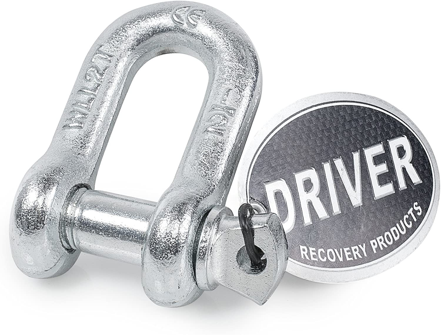 Driver Recovery Products Heavy Duty 1//2 in Screw Pin D Ring Shackle w// 5//8 in 4,000 lbs Capacity