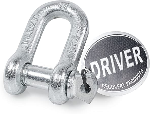 Capacity Driver Recovery Products 5//8 in 6,500 lbs Bow Shackle w// 3//4 in Screw Pin