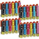 24 Druckerpatronen kompatibel zu Epson 24-XL T2438 (4x Schwarz, 4x Cyan, 4x Magenta, 4x Gelb, 4x Light Cyan, 4x Light Magenta) passend für Epson Expression Photo XP-55 XP-750 XP-760 XP-850 XP-860 XP-950 XP-960
