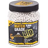Game Face 20GBW5J Match Grade .20-Gram White Airsoft BBS (5000-Count)