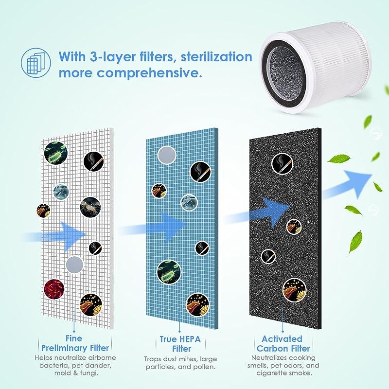 81AXI1TuXNL. SL800  Intey NY BG55, purificatore daria con filtro HEPA a carboni attivi e luce ultravioletta