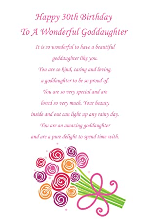 Goddaughter 30th Birthday Card Amazon Office Products