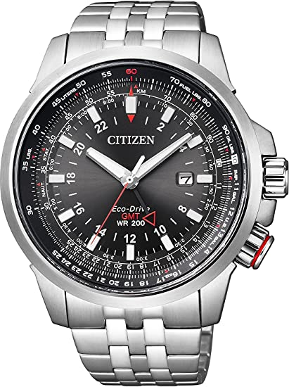 Citizen Promaster reloj Promaster mundial cielo Eco-Drive Eco-Drive mundo piloto de tiempo reloj multifunción modelo bj7071 - 54E Hombres de: Amazon.es: ...