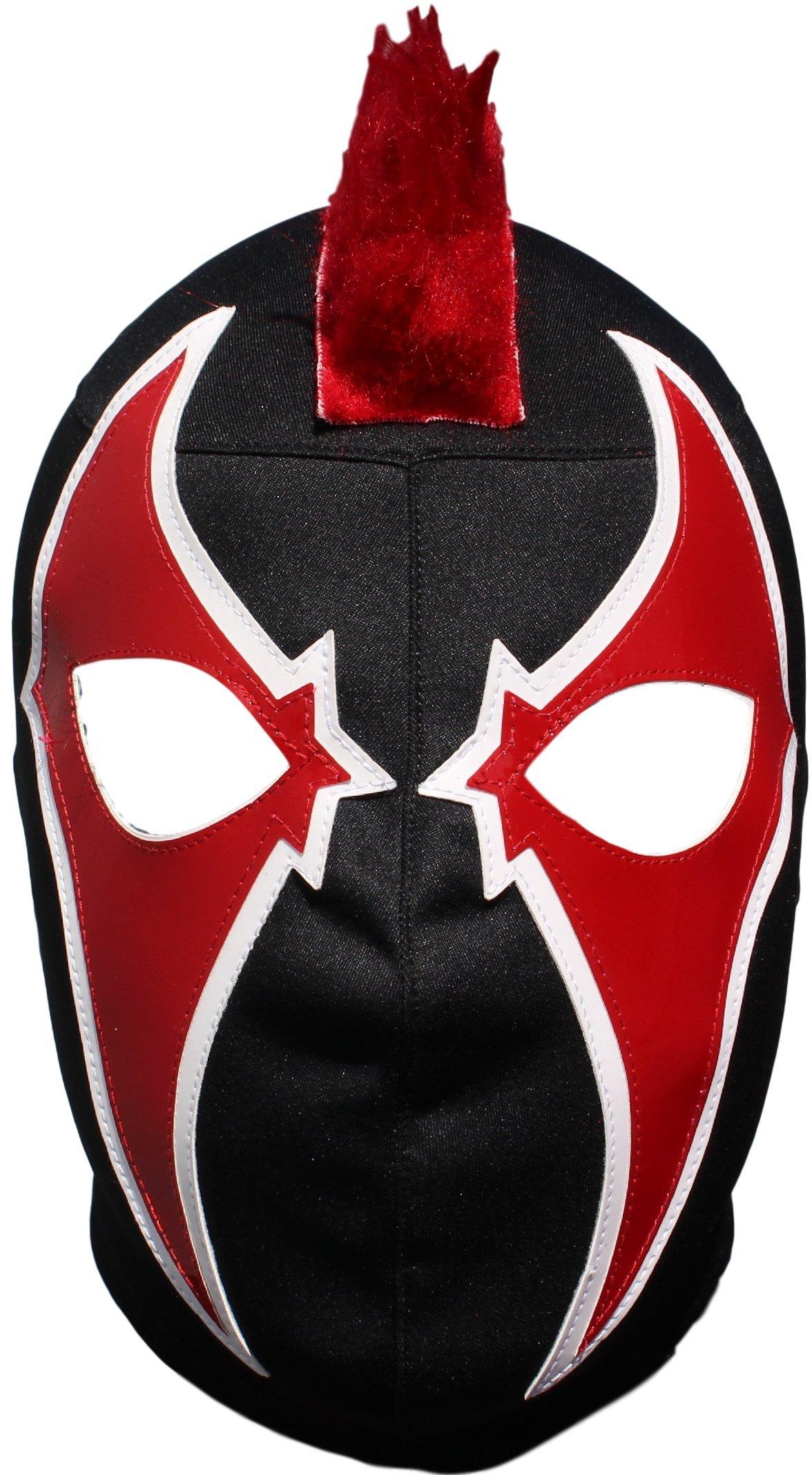 Deportes Martinez Crazy Clown Lycra Lucha Libre Luchador Wrestling Masks Adult Size Red by Deportes Martinez