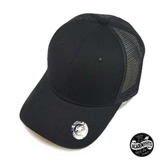 b9c2ddd2 AcademyFits Quality 6 Panel Cotton Nylon Trucker Mesh Snapback Hat ...